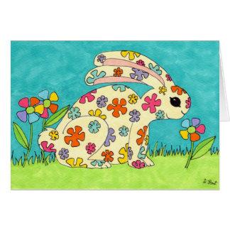 Flower Bunny Card
