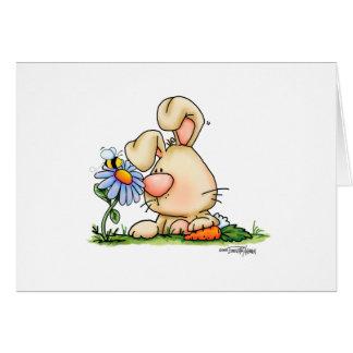 flower-bunny-nobgtxt12x12-cp tarjeta de felicitación