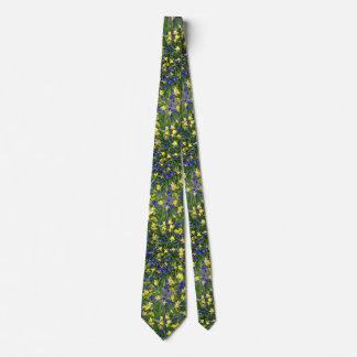 Flower Burst Grape Hyacinths Daffodils Spring Tie