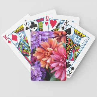 Flower Bursts Bicycle Playing Cards