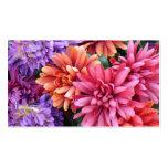 Flower Bursts Business Card Template