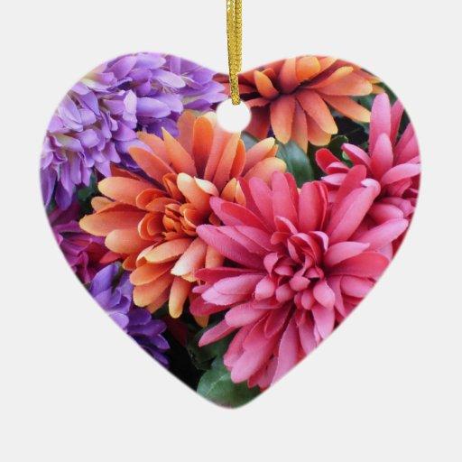 Flower Bursts Ceramic Ornament