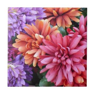 Flower Bursts Ceramic Tile