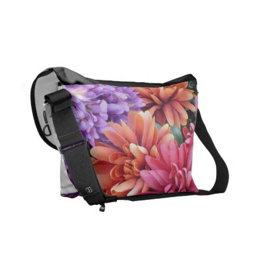 Flower Bursts Courier Bag