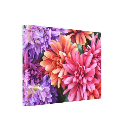 Flower Bursts Gallery Wrapped Canvas