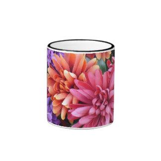 Flower Bursts Ringer Coffee Mug