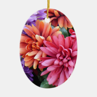 Flower Bursts Christmas Ornaments