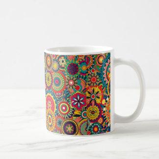 Flower Bursts Pinwheels Classic White Coffee Mug