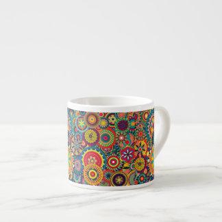 Flower Bursts Pinwheels 6 Oz Ceramic Espresso Cup