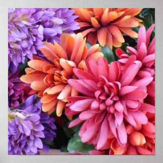 Flower Bursts Poster
