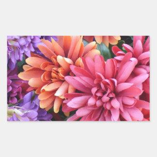 Flower Bursts Rectangular Sticker