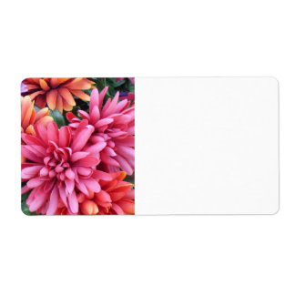 Flower Bursts Shipping Label
