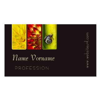 Flower Double-Sided Standard Business Cards (Pack Of 100)