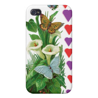 Flower/buterfly/hearts Case Cases For iPhone 4