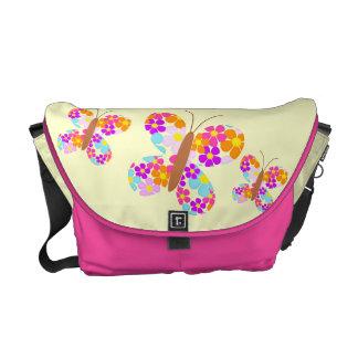 Flower Butterflies Courier Bag