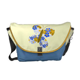 Flower Butterfly Messenger Bag