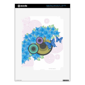 Flower Butterfly iPad 3 Decal