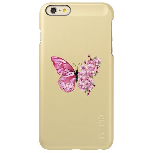 Flower Butterfly with Pink Sakura Incipio Feather Shine iPhone 6 Plus Case
