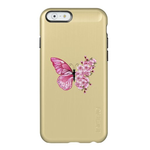 Flower Butterfly with Pink Sakura Incipio Feather Shine iPhone 6 Case