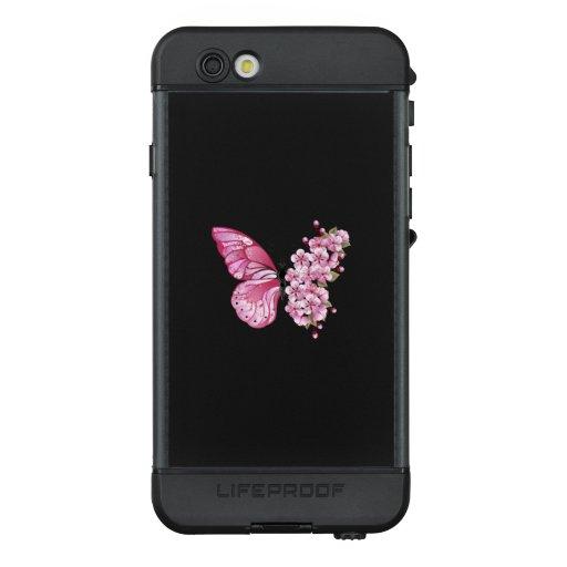 Flower Butterfly with Pink Sakura LifeProof NÜÜD iPhone 6s Case