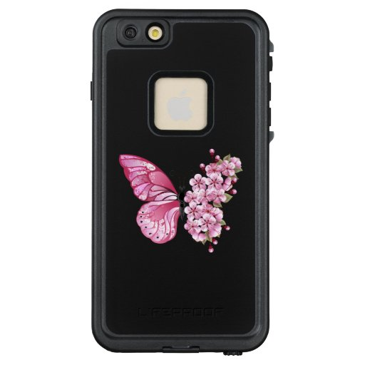 Flower Butterfly with Pink Sakura LifeProof FRĒ iPhone 6/6s Plus Case