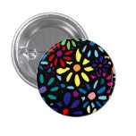 Flower Button Pin Redondo 2,5 Cm