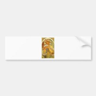 Flower by Alphonse Mucha Bumper Sticker
