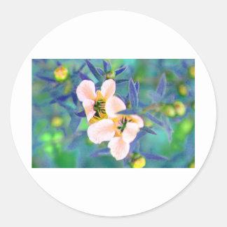 Flower C1 Round Sticker