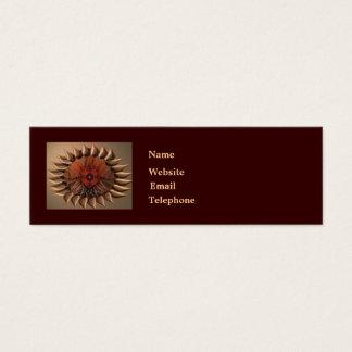 Flower cake eye mandala mini business card