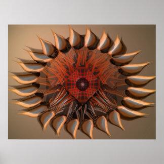 Flower cake eye mandala poster