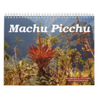 Flower Calendar 2016 - Machu Picchu Peru Calendar