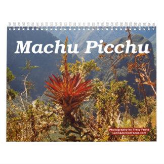 Flower Calendar 2018 - Machu Picchu Peru Calendar