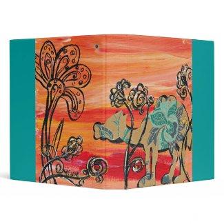 Flower Camel Binder binder