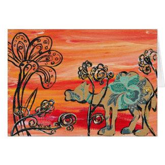 Flower Camel Card