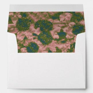 Flower camouflage pattern envelope