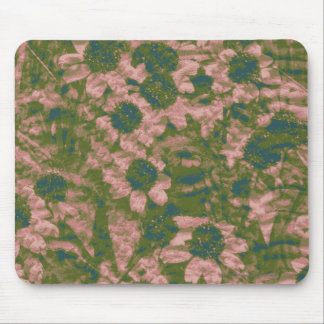 Flower camouflage pattern mouse pad