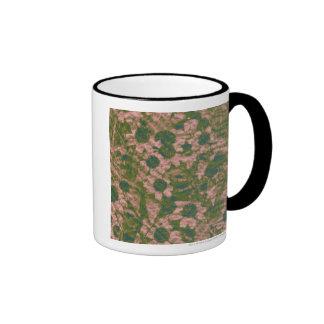 Flower camouflage pattern ringer coffee mug
