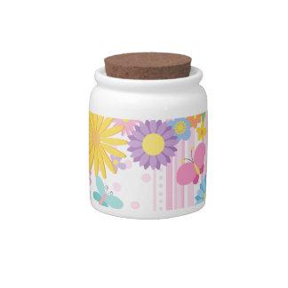 Flower Candy Jar