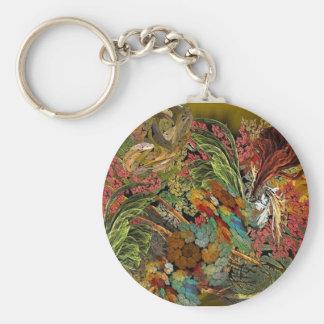 Flower Canvas Keychain