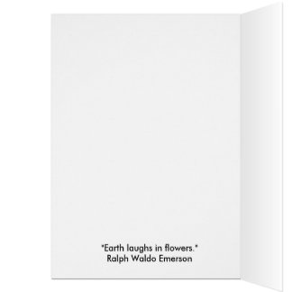 Flower Card with Emerson Quote