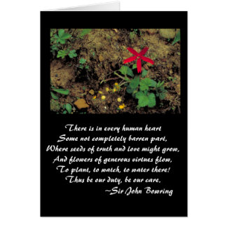 Flower care stationery note card