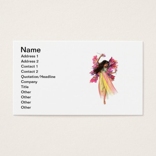 Flower Carnival Fairy Business Card