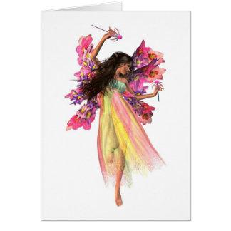 Flower Carnival Fairy Card