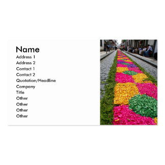 Flower carpet business card