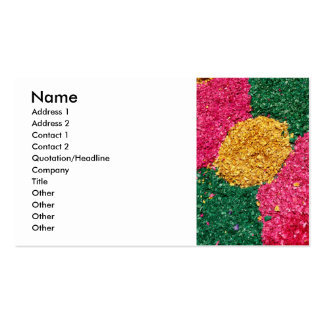 Flower carpet business card