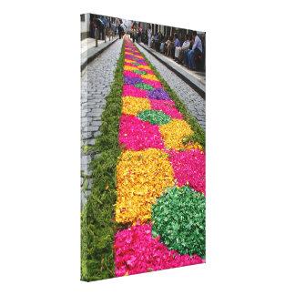 Flower carpet stretched canvas print