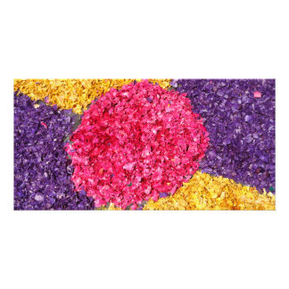 Flower carpet card