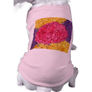 Flower carpet dog clothes