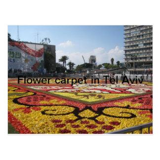 Flower carpet in Tel Aviv Postcards