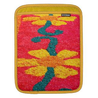 Flower carpet iPad sleeves